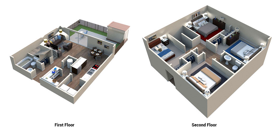 Floorplan - Four Bedroom image