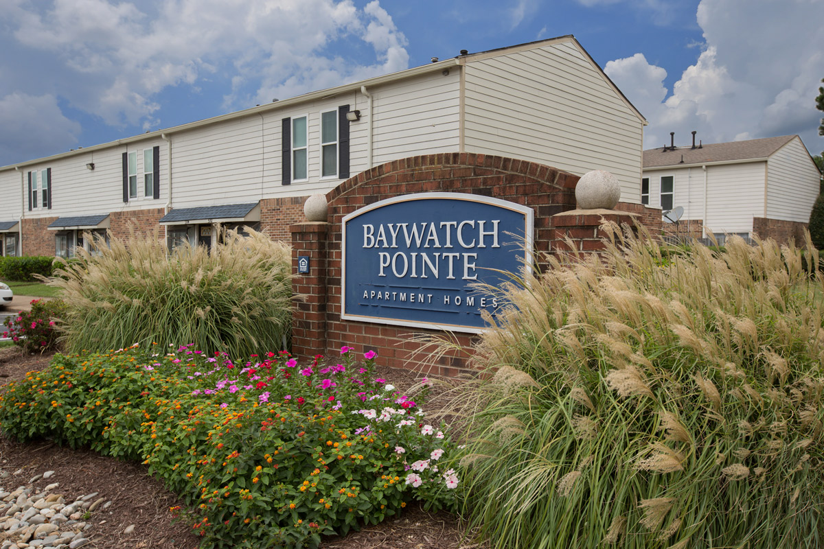 Welcome Signage at BayPointe Crossing Apartments in Virginia Beach, Virginia