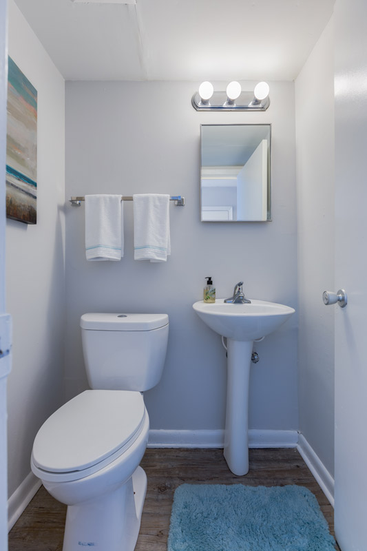 Bathrooms at BayPointe Crossing Apartments in Virginia Beach, Virginia