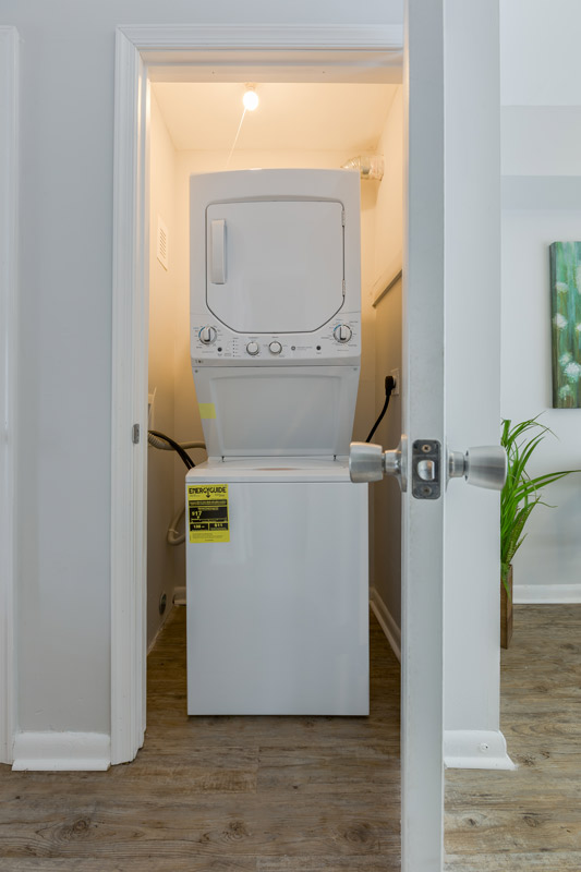 Washer and Dryer at BayPointe Crossing Apartments in Virginia Beach, Virginia