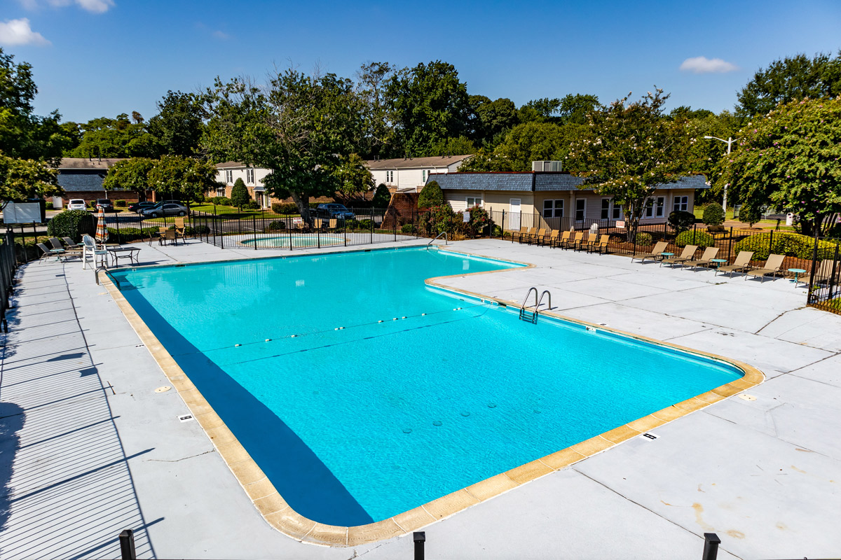 Pool with Wi-Fi at BayPointe Crossing Apartments in Virginia Beach, Virginia