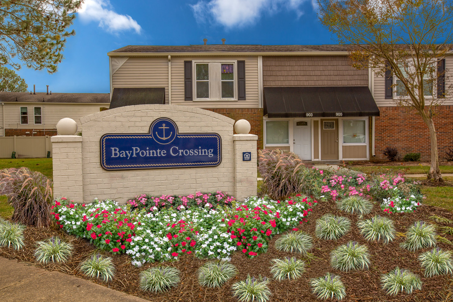 Orderly Entry at BayPointe Crossing Apartments in Virginia Beach, Virginia