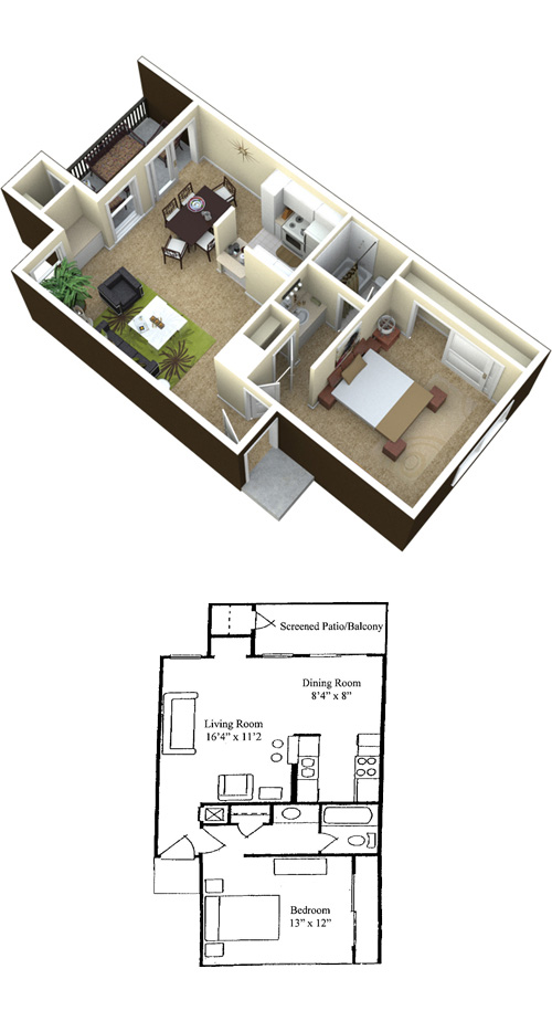 Baywater Apartments - Floorplan - Pacific