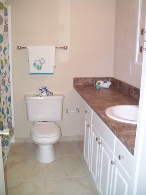Full Bathroom at the Baywater Apartments in Tampa, FL