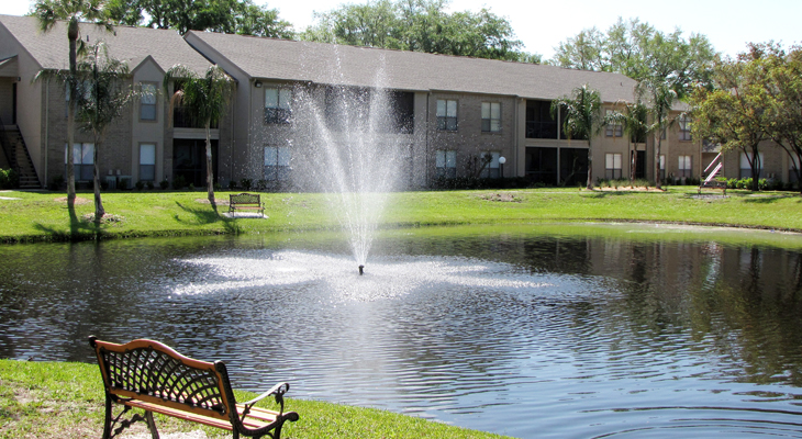 Outdoor Seating at Lake at the Baywater Apartments in Tampa, FL