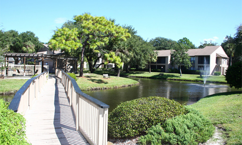 Exterior View at the Baywater Apartments in Tampa, FL