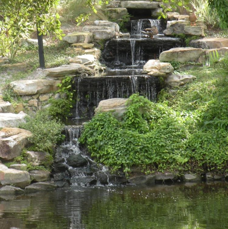 Waterfall at the Baywater Apartments in Tampa, FL