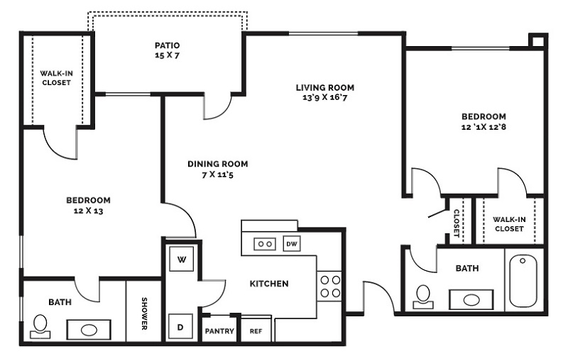 Beaumont Trace - Floorplan - B2 - $1175 Special!