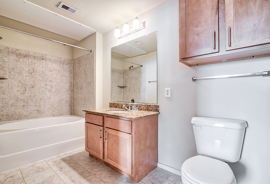 Spacious Bathrooms at Beaumont Trace Apartments in Beaumont, TX