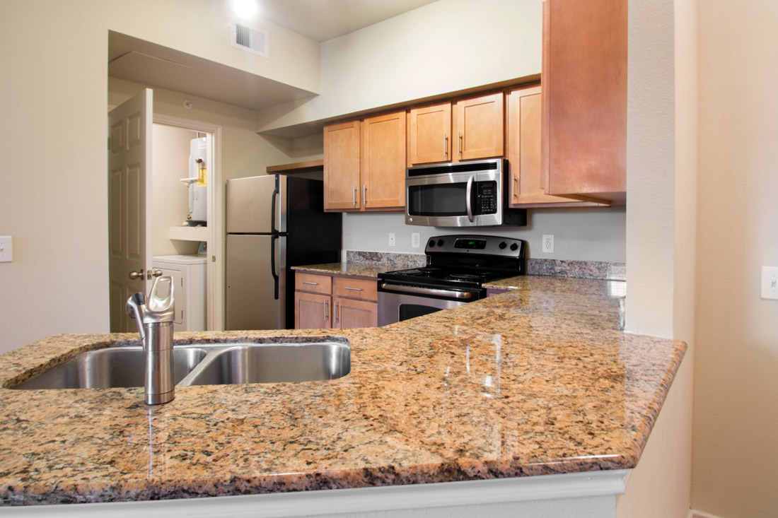 Beautiful Stainless Steel Kitchens at Beaumont Trace Apartments in Beaumont, TX