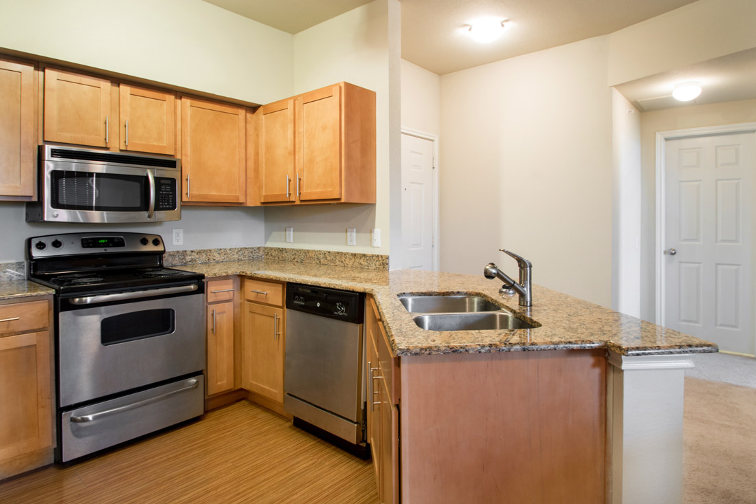 Granite Countertops at Beaumont Trace Apartments in Beaumont, TX