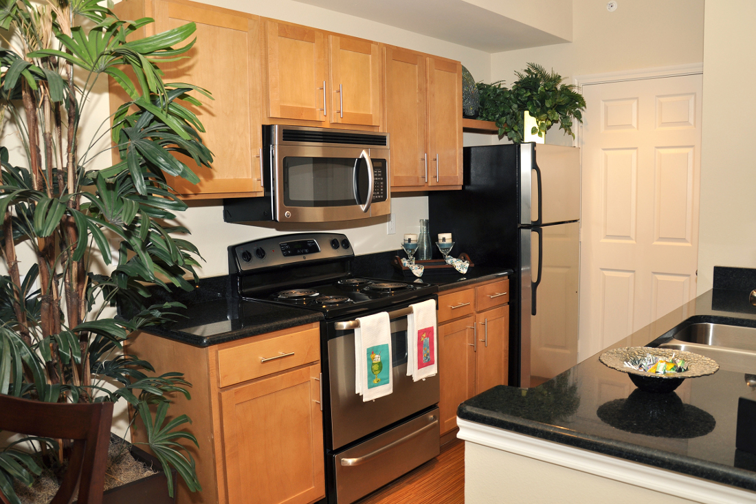 Stainless Steel Appliances at Beaumont Trace Apartments in Beaumont, TX