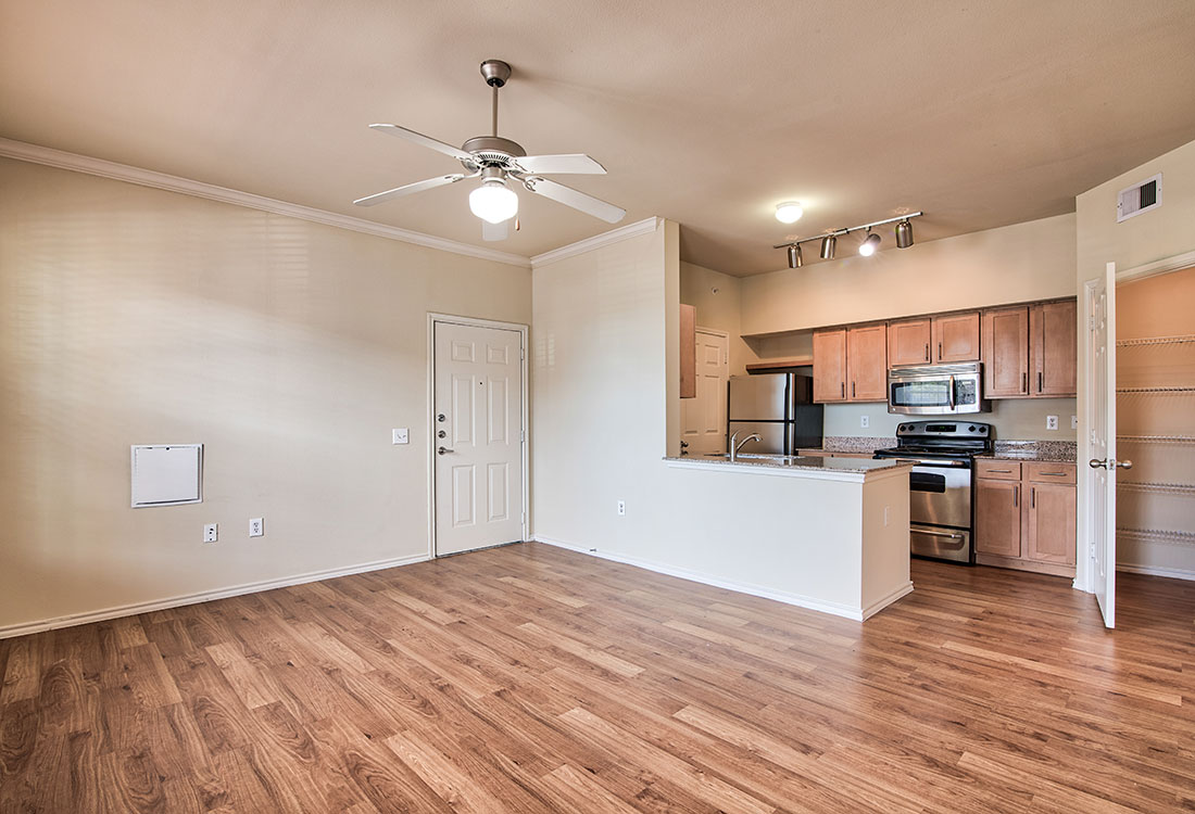Wood-Look Flooring at Beaumont Trace Apartments in Beaumont, TX