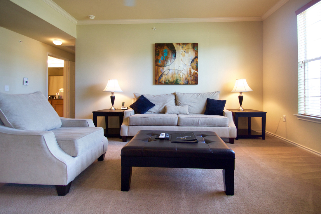 Open Living Rooms at Beaumont Trace Apartments in Beaumont, TX