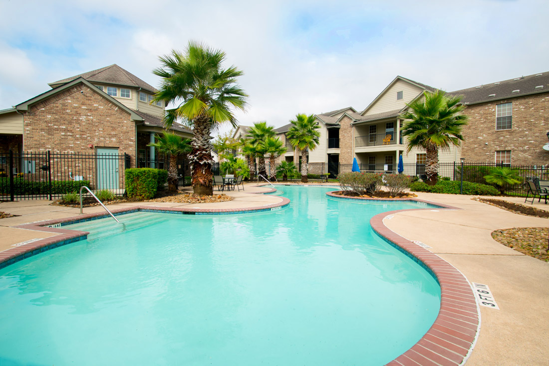 Resort-Style Pool at Beaumont Trace Apartments in Beaumont, TX
