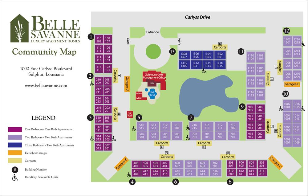 Belle Savanne Luxury Apartment Homes  Site Plan