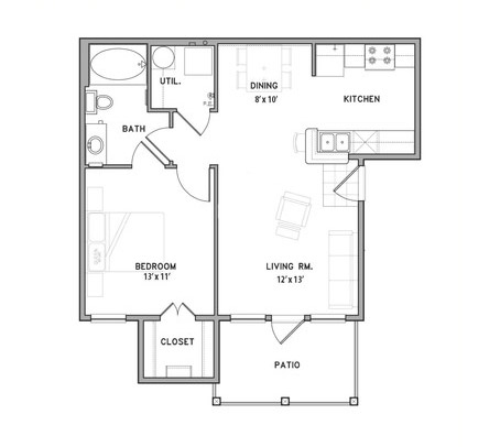 Belle Savanne Luxury Apartment Homes  - Floorplan - A