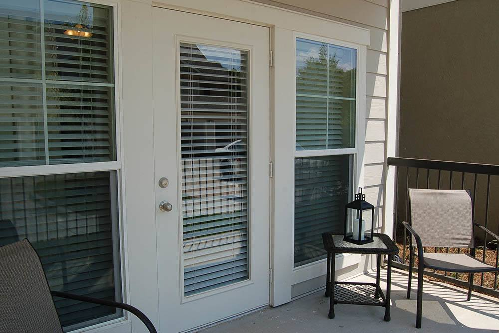 Private Patio or Balcony at Belle Savanne Luxury Apartment Homes in Sulphur, LA
