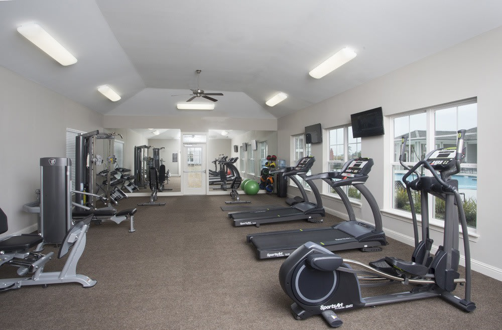 Fitness Center at Belle Savanne Luxury Apartment Homes in Sulphur, LA