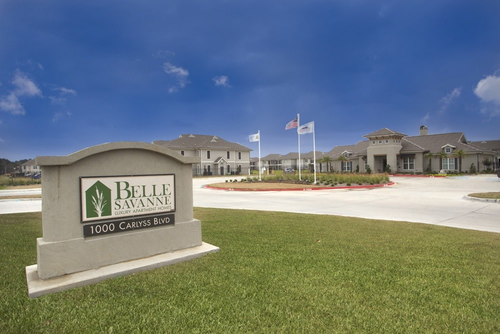 Welcome Signage at Belle Savanne Luxury Apartment Homes in Sulphur, LA
