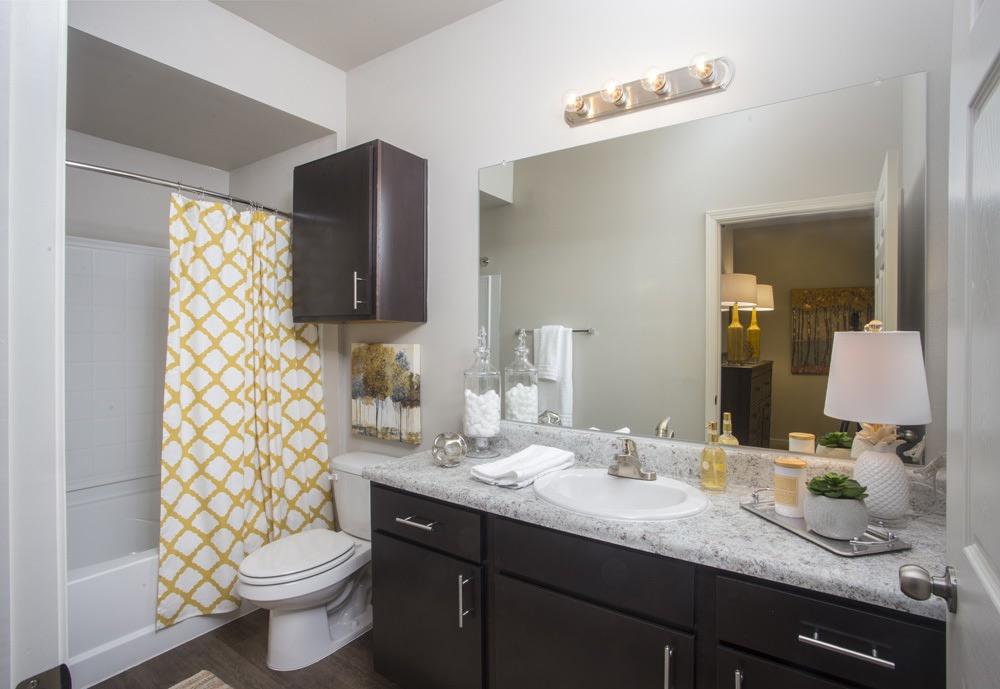 Single Vanity Bathroom at Belle Savanne Luxury Apartment Homes in Sulphur, LA