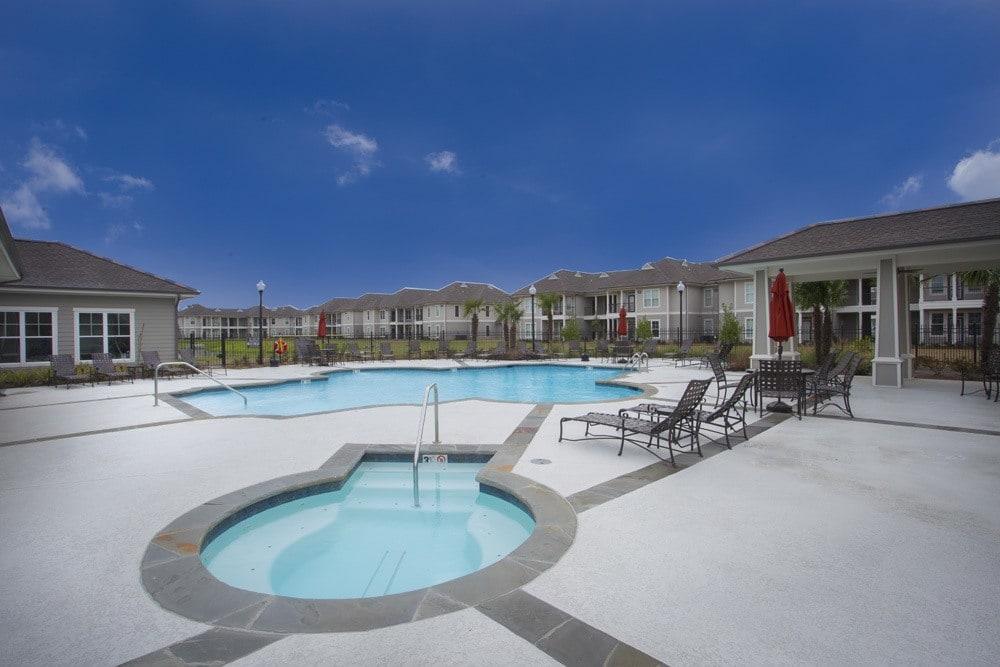 Resort Style Pool at Belle Savanne Luxury Apartment Homes in Sulphur, LA