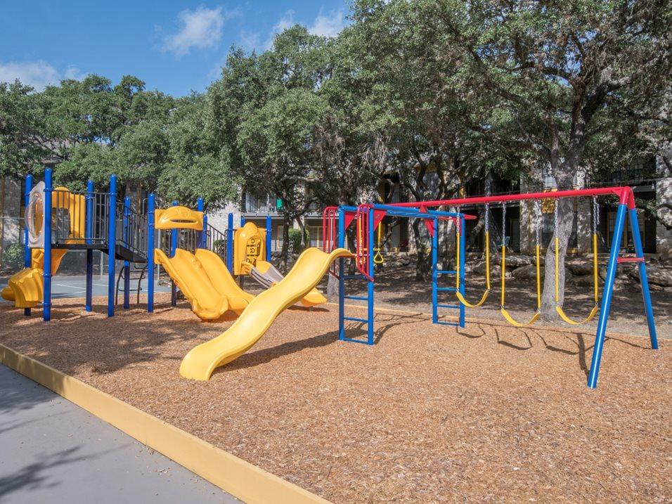 Children's Playground at Blair at Bitters Apartments in San Antonio, TX
