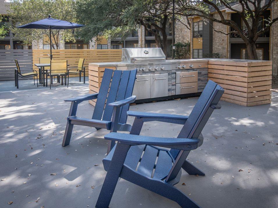 Grilling Area at Blair at Bitters Apartments in San Antonio, TX