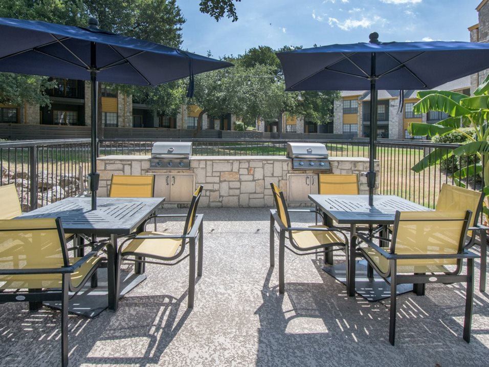 Grilling Stations with Seating at Blair at Bitters Apartments in San Antonio, TX