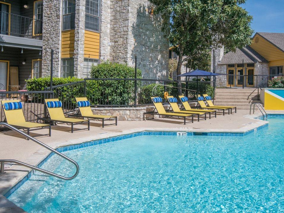 Large Swimming Pool at Blair at Bitters Apartments in San Antonio, TX