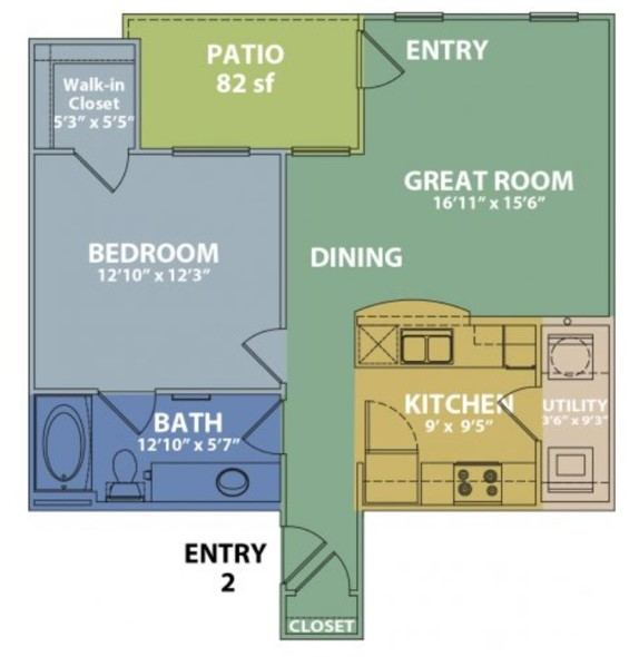 Floorplan - A w/ Garage image