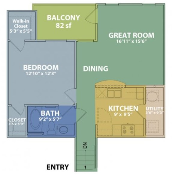 Floorplan - A2 w/ Garage image