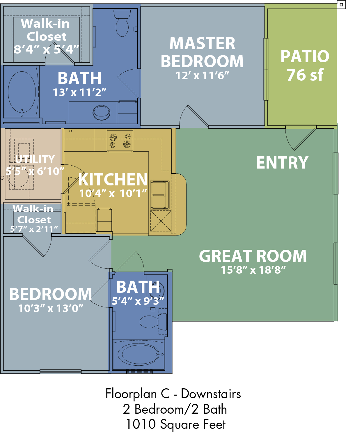 The Boulders on Fern - Floorplan - C
