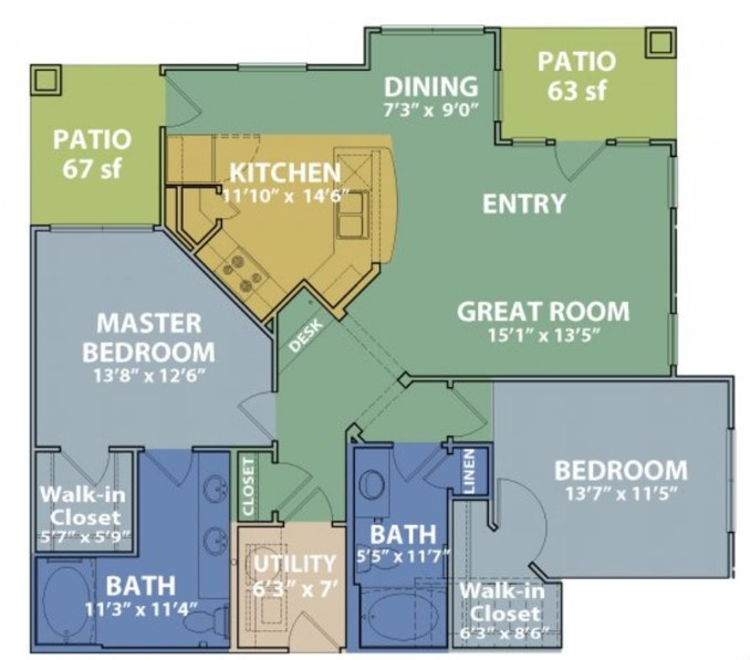 Floorplan - D w/ Garage image