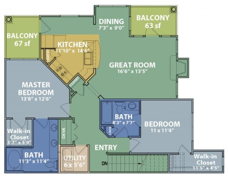 The Boulders on Fern - Floorplan - D2