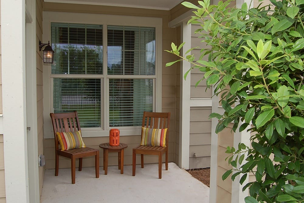Patio at The Boulders on Fern Apartments in Shreveport, LA