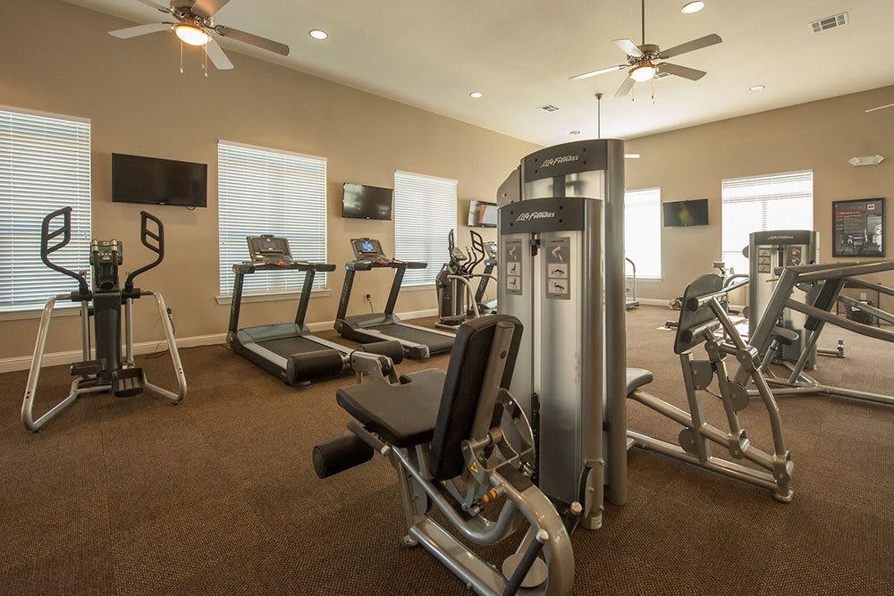 Fitness Center at The Boulders on Fern Apartments in Shreveport, LA