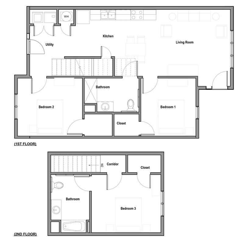 Boulevard Lofts - Floorplan - 3Bed 2Bath