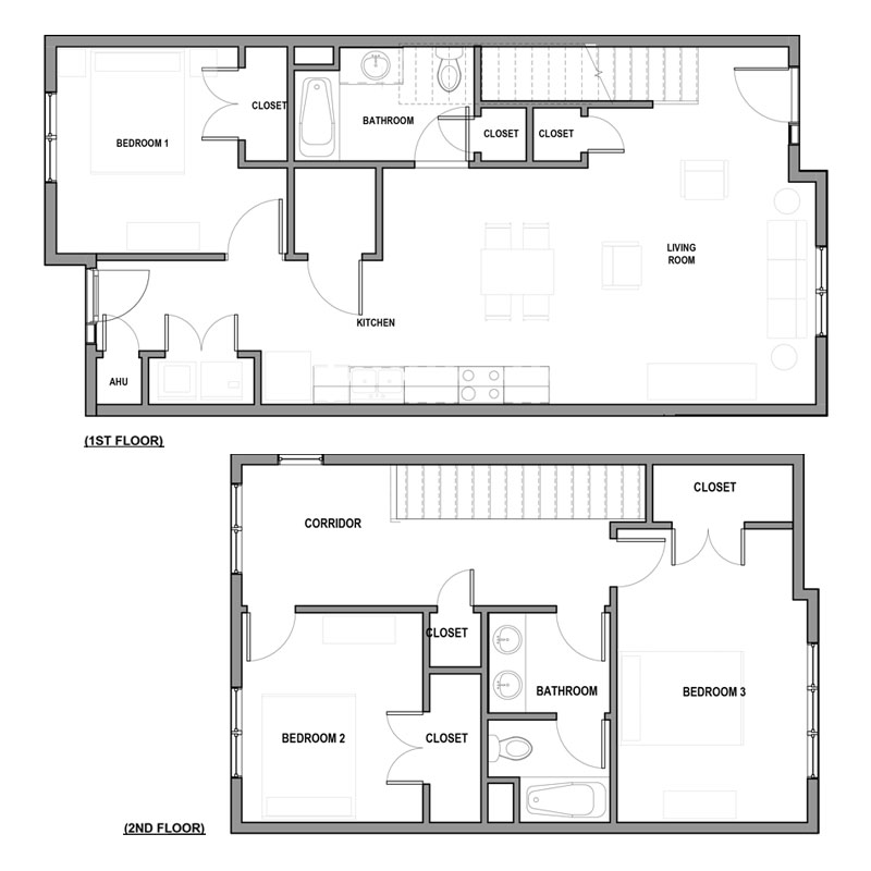 Floorplan - 3Bed 2Bath image