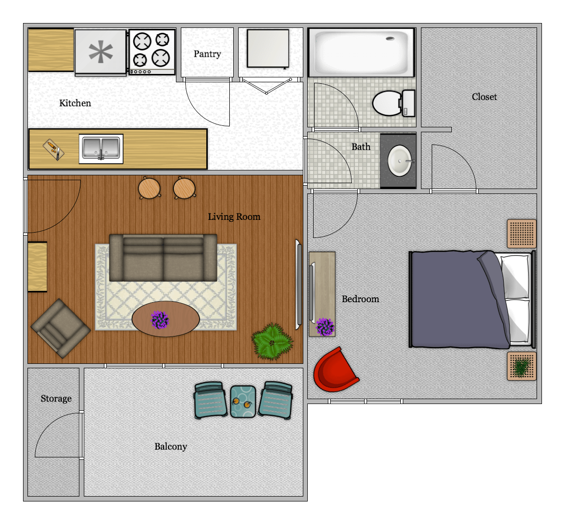 Luna Apartments - Floorplan - A1