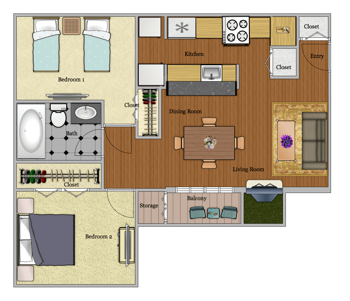 Luna Apartments - Floorplan - B2