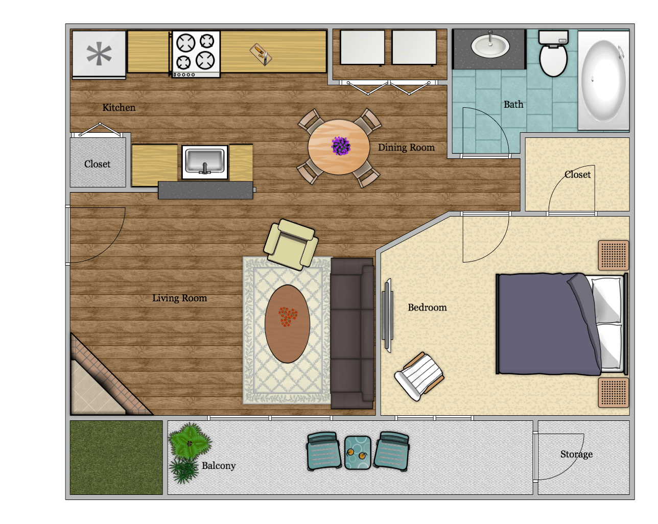 Luna Apartments - Floorplan - A3