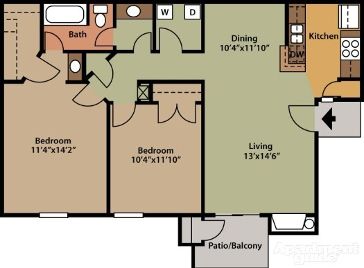 Briar Park Apartments - Floorplan - Silver Birch