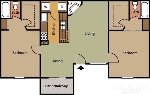 Briar Park Apartments - Floorplan - Cedar