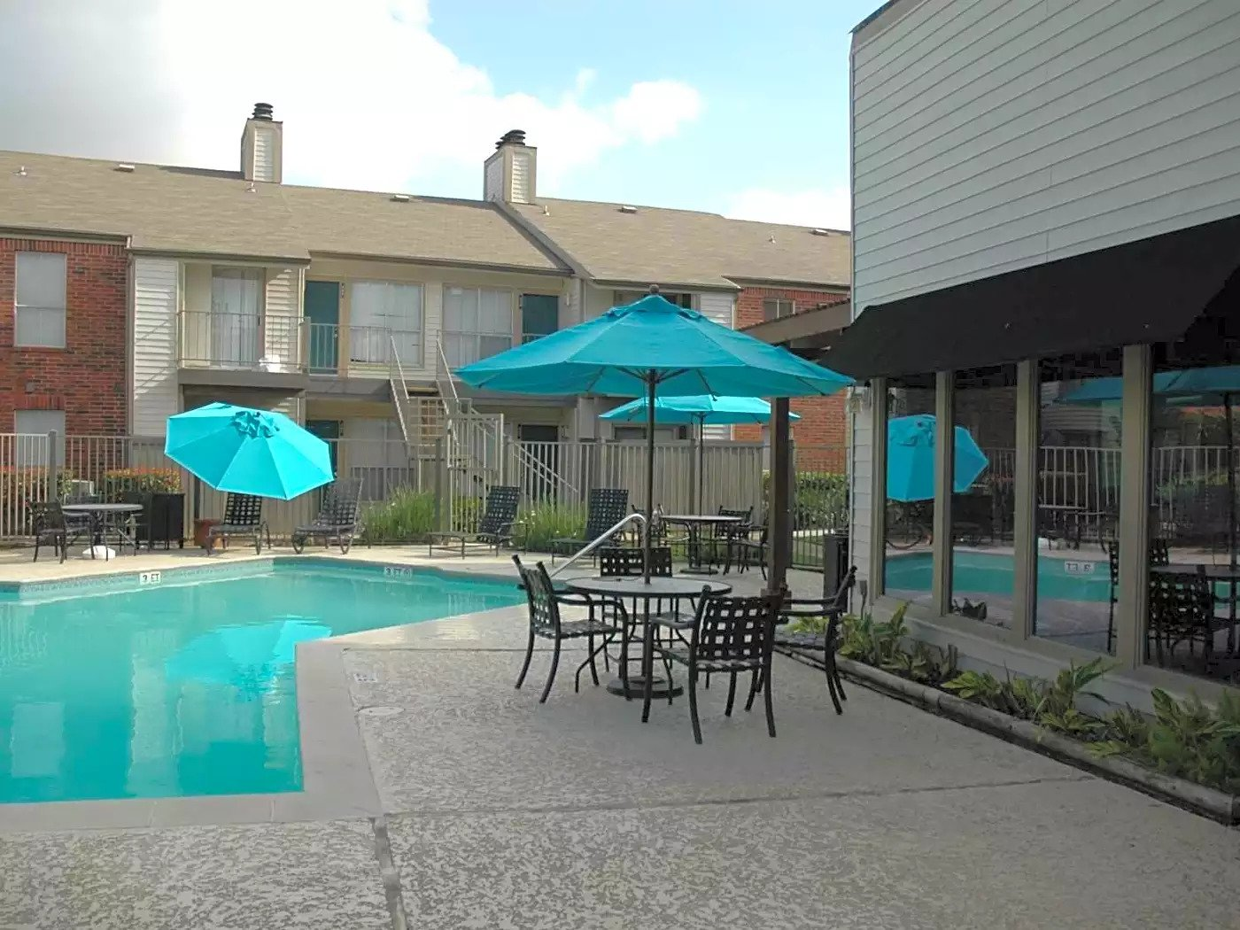 Shimmering Swimming Pool at Briar Park Apartments in Houston, Texas