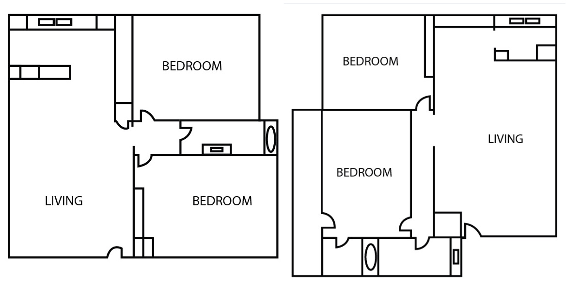 Bricktown Apartments - Floorplan - Two Bedroom