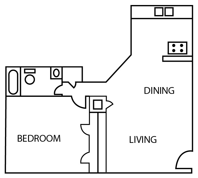 Bridgeport Apartments - Floorplan - A2