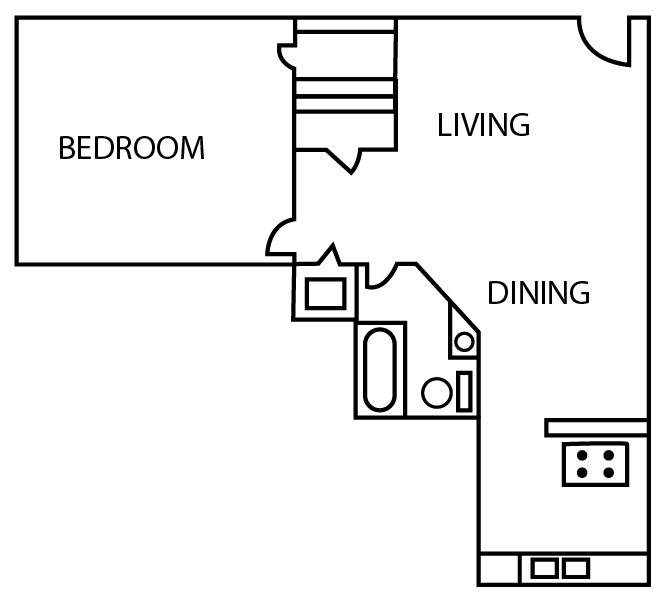 Bridgeport Apartments - Floorplan - A3