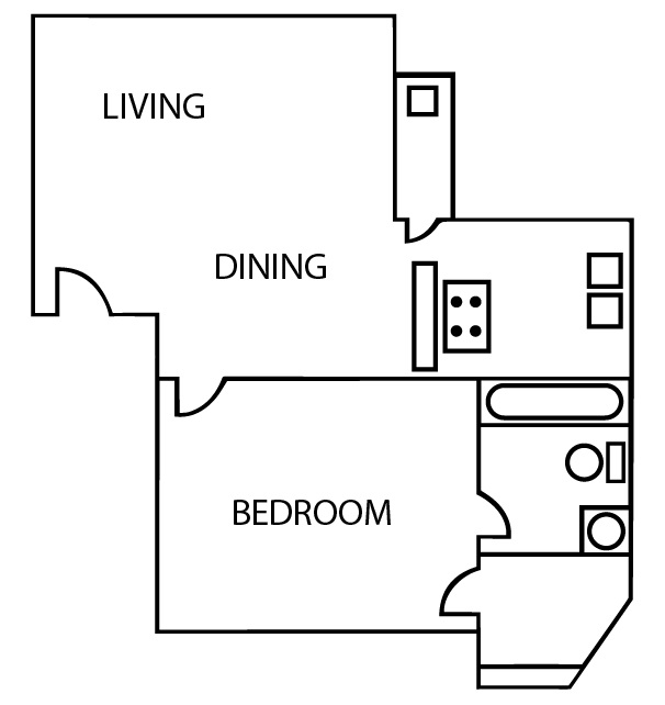 Bridgeport Apartments - Floorplan - A1