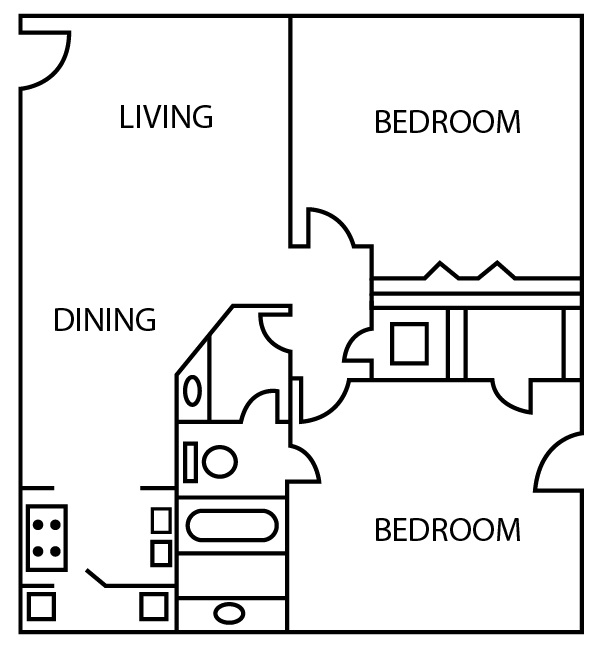 Bridgeport Apartments - Floorplan - B2